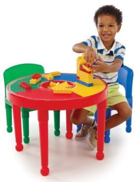 2-in-1 Kids Round Construction Table & 2 Chairs Only $44.39! (Reg. $90)