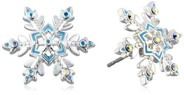 """Disney Girls' """"Frozen"""" Snowflake Stud Earrings Just $12! (47% Off!)"""