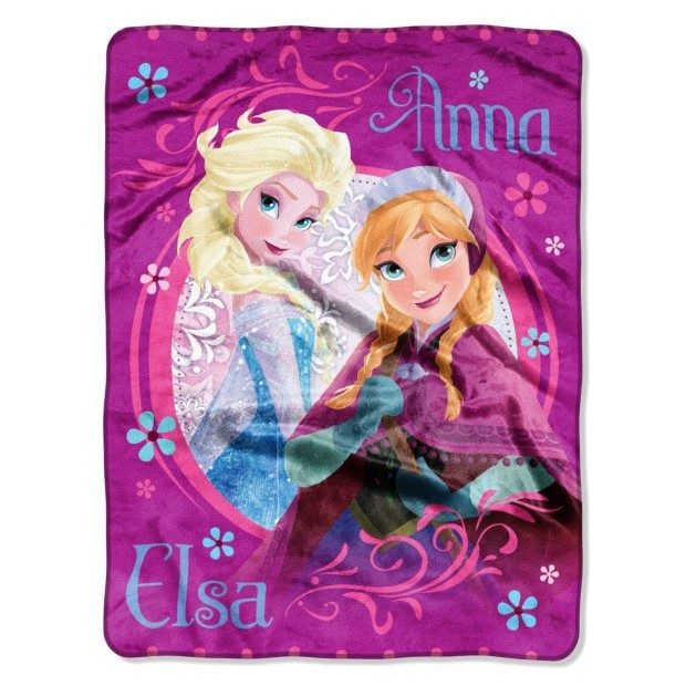 Disney Frozen Loving Sisters Micro Raschel Throw Just $8.74! Down From $30!