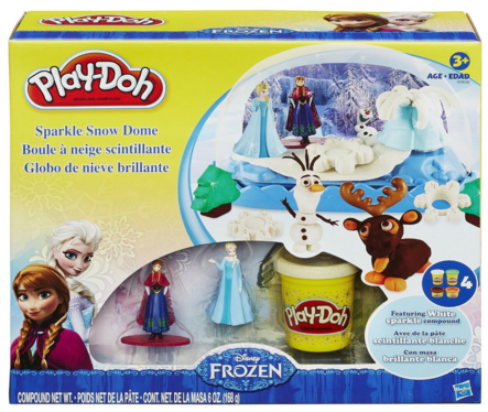 Play-Doh Disney Frozen Sparkle Snow Dome Set With Elsa And Anna Just $9 Down From $15!