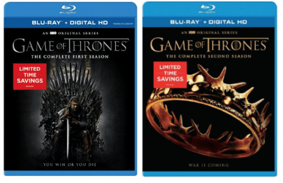 Game of Thrones Season 1 or 2 Only $11.99 On Blu-ray & DVD!