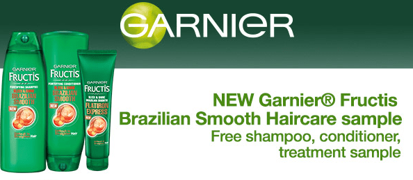 FREE Garnier Fructis Brazilian Smooth Haircare Samples!