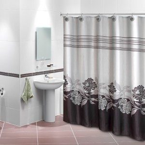 Home Collections Printed Shower Curtain with Polyresin Hooks Only $14.99 Plus FREE Shipping!