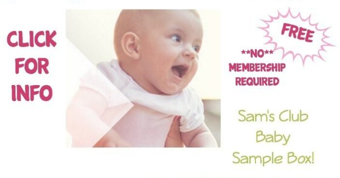 FREE Sam's Club Baby Sample Box!