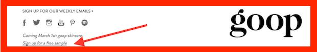 FREE Goop Revitalizing Day Moisturizer Sample!