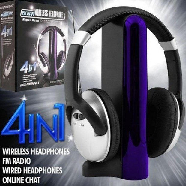 SoundLogic 4-in-1 Wireless Headphones Only $13.99 Plus FREE Shipping!