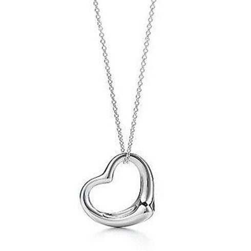 """18K White Gold Heart Pendant With 18"""" Necklace Only $4.99 Shipped!"""