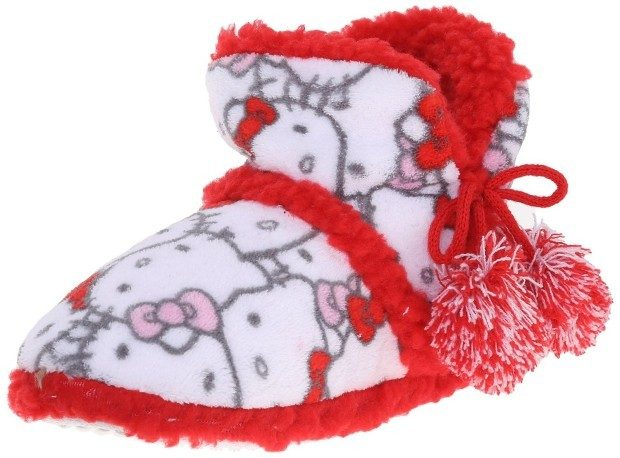 Hello Kitty Women's Plush Bootie Only $9.85!