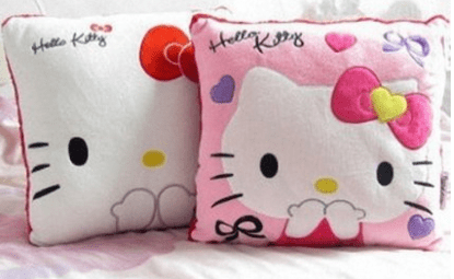 "U-beauty Pink Hello Kitty Face Square 14""x14"" Cushion Pillow As Low As $8.19 Down From $40!"