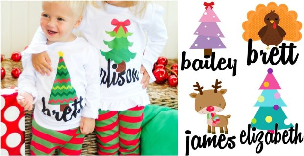 Personalized Holiday Iron-on Transfers - 16 Designs Just $4.95!