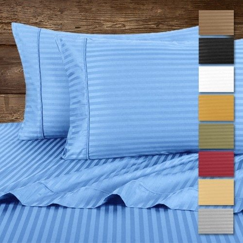 Hotel Life Deluxe 100% Cotton Sateen Sheet Set In Queen Just $16.99! Ships FREE!