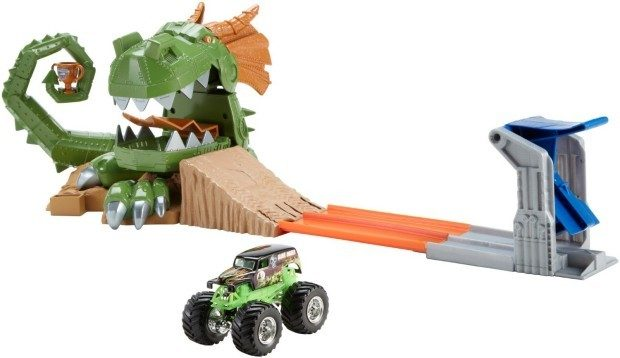Hot Wheels Monster Jam Dragon Arena Attack Playset Only $14.99!