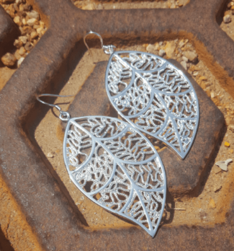 FREE Silver Plated Leaf Earrings! Down From $99.99!