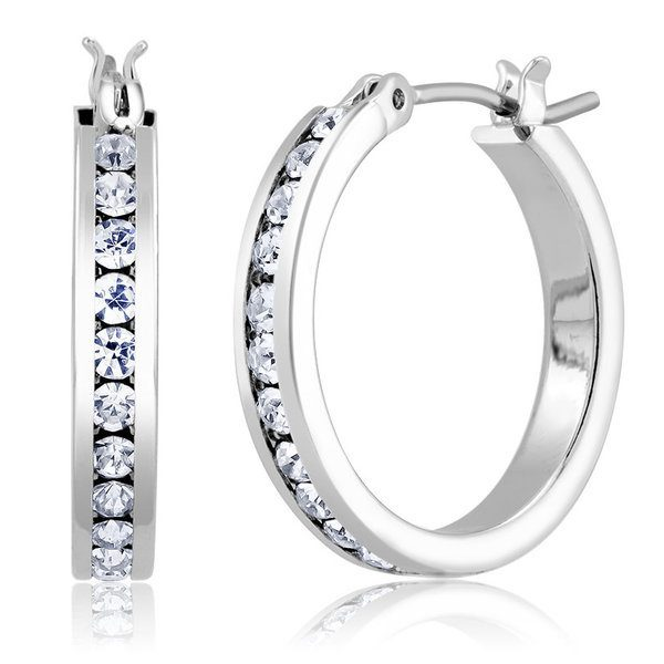 White Gold Plated Hoop Earrings Just $6.99! Down From $99.99!