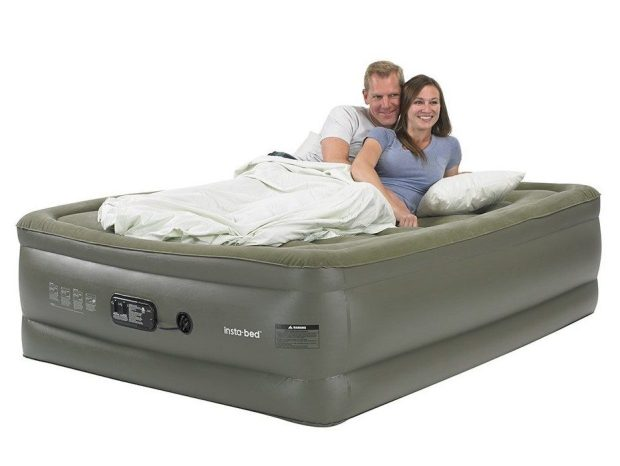 Insta-Bed Queen Raised Air Mattress with Built-In Pump Just $46.77! Down From $140!