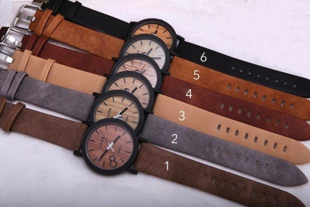 Men's Natural Wooden Face Watches Only $23.98 Shipped!