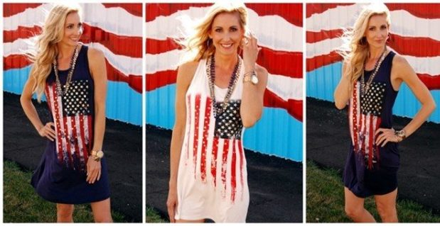 American Flag Tunic Dress Only $18.99!