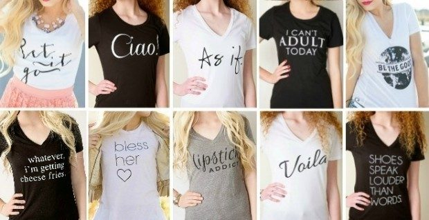 Women's Graphic Tee - 27 Styles Only $12.99!