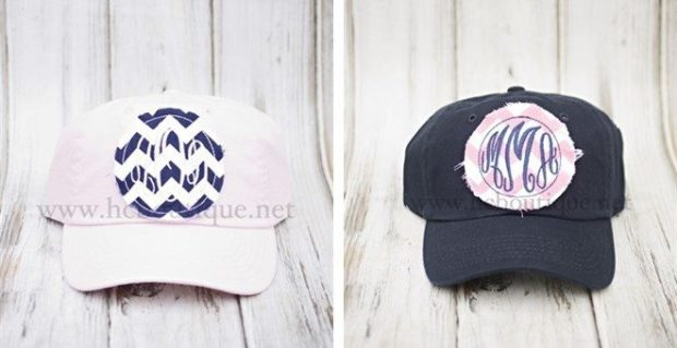 Monogrammed Raggy Patch Ball Caps Only $14.99!