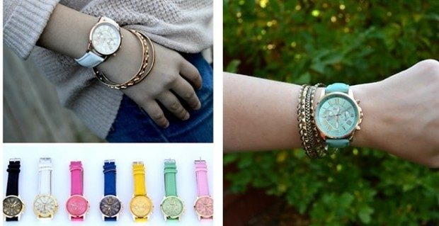 Over-Sized Leather Boyfriend Watch Only $9.98 Shipped At Jane!