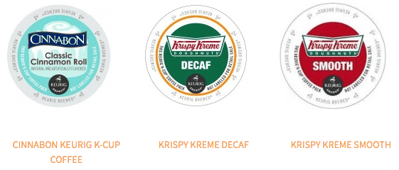 Krispy Kreme & Cinnabon K-Cups 15% Off!