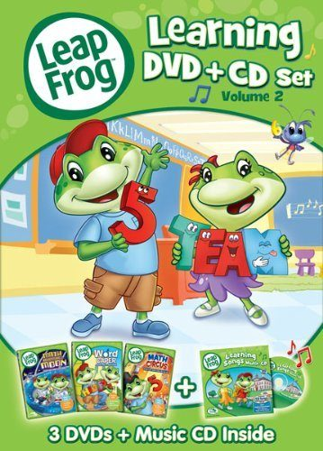 leapfrog learning DVDs and CD Set