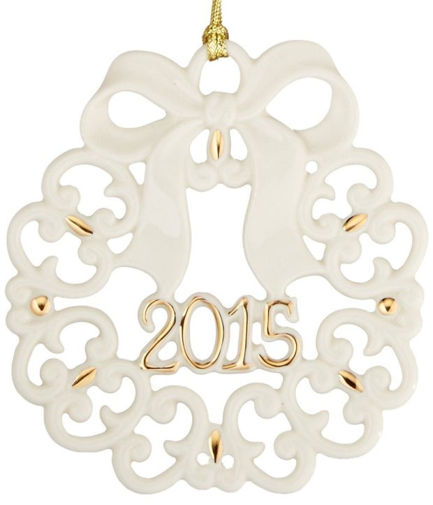Lenox 2015 A Year to Remember Wreath Ornament Only  $12!
