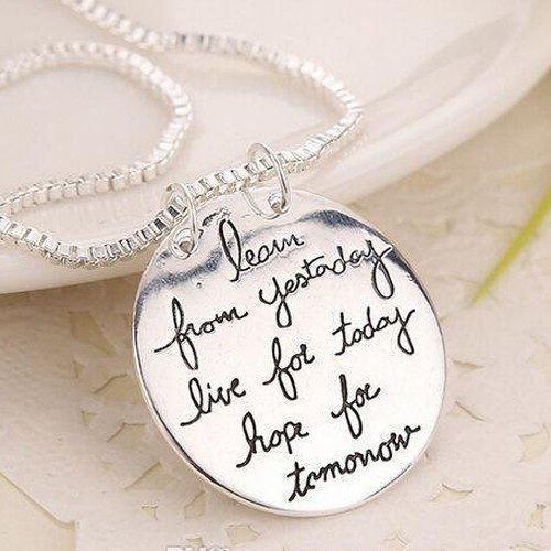 "Ladies ""Learn From Yesterday"" Necklace Just $3.35 Down From $29.99 At GearXS! Ships FREE!"