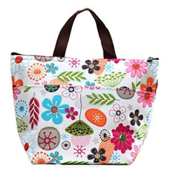 Colorful Floral Zippered Lunch Tote Just $3.80 Ships FREE!