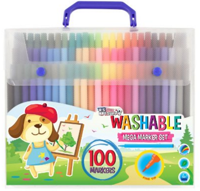 US Art Supply - 100 Mega Count Washable Marker Set Just $13 Down From $40!