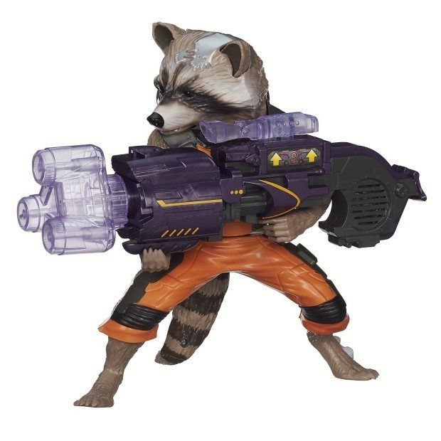 Marvel Guardians of The Galaxy Big Blastin' Rocket Raccoon Figure Only $11.44!