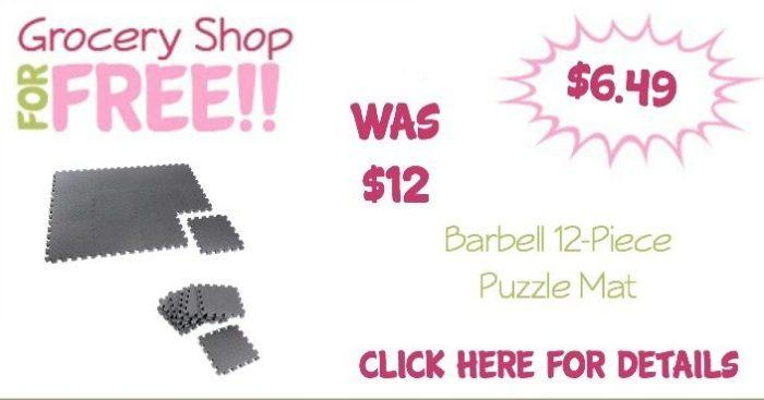Barbell 12-Piece Puzzle Mat Just $6.49! (Reg. $12)