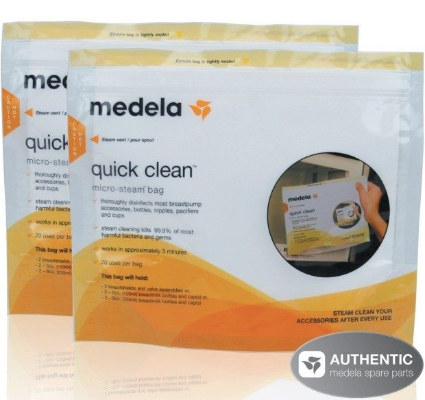 Medela Quick Clean Micro-Steam Bags - 2 Pack Of 5 Ea Only $10.35 Shipped FREE!