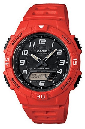 Casio Men's Solar-Power Red Resin Watch Just $20 Down From $50!