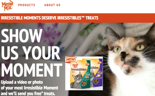 FREE Meow Mix Irresistibles Cat Treat!