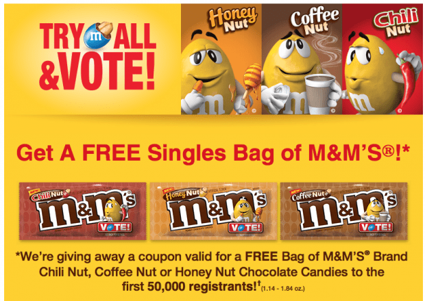 FREE M&Ms For First 50,000!