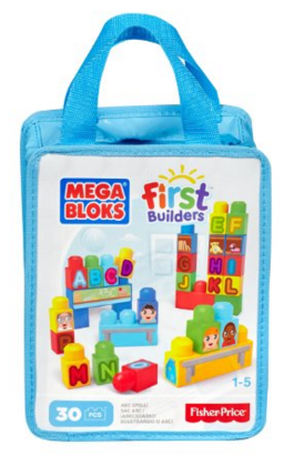 Mega Bloks First Builders ABC Spell, 30-Piece (Bag) Just $8.39 Down From $12!