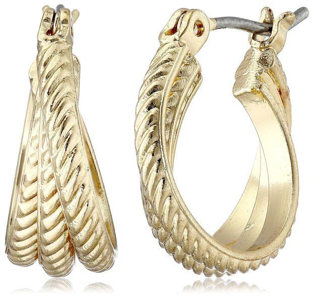 "Napier ""Metal Attraction"" Rope-Texture Hoop Earrings Only $6.92!  (Reg. $14)"