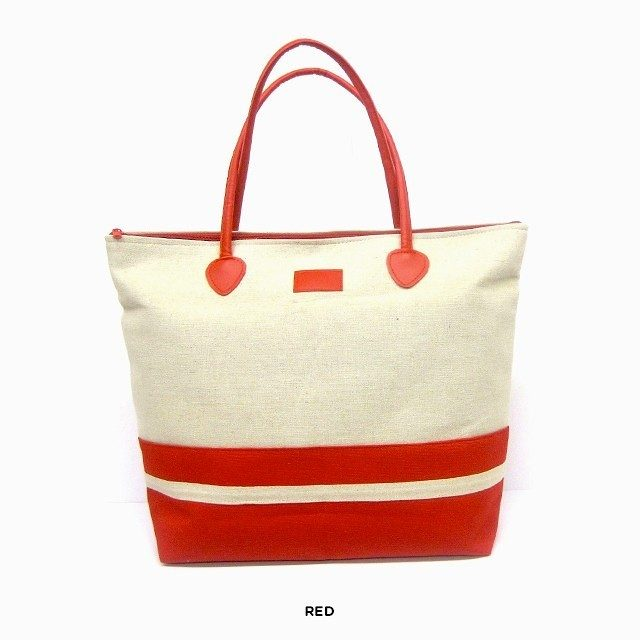 Le Sac Canvas Two-Tone Tote - Assorted Colors Only $18 Shipped!