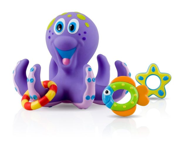 Nuby Bathtime Fun Purple Octopus Hoopla Just $6.98!