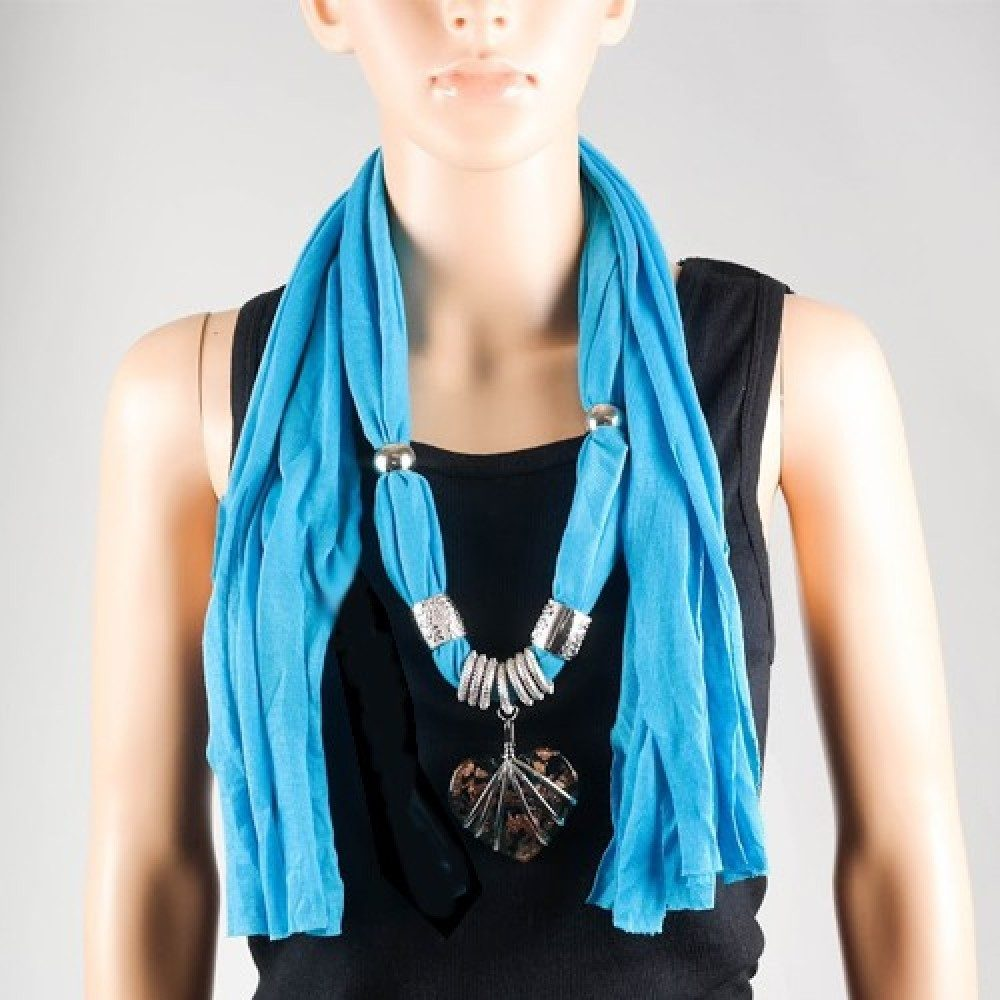 Hot Jewel Gem-Heart Pendant Scarf Only $7.99 Plus FREE Shipping!