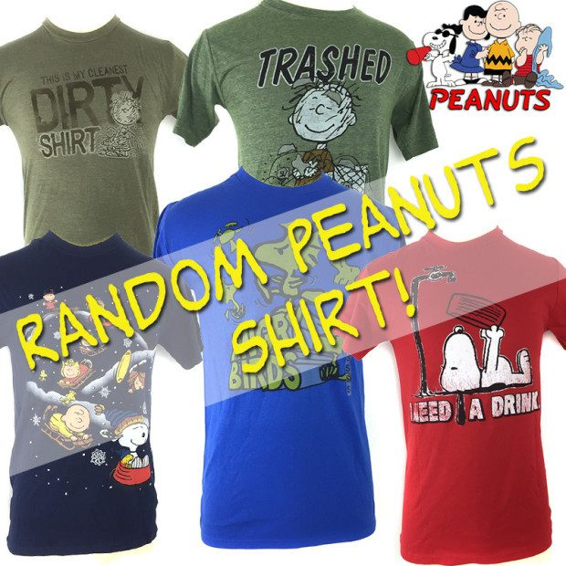Officially Licensed Peanuts Shirts Only $6.99 Plus FREE Shipping!