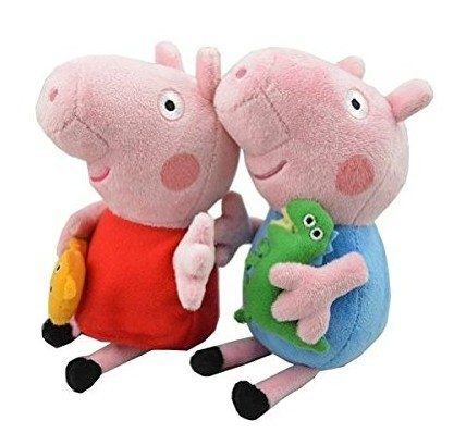 """Peppa & George Pig 8"""" Plush Figures Only $6.32 For Both Shipped FREE!"""