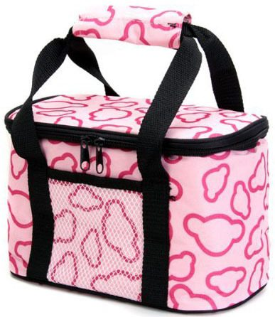 pink insulated lunch cooler