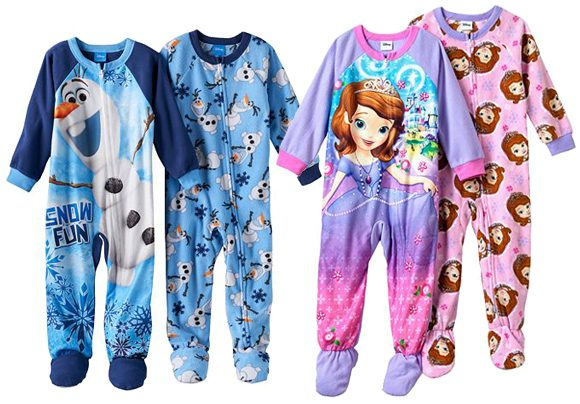 Disney's Fleece Footed Toddler Pajamas Only $3.85 A Pair Down From $40.00 At Kohl's!