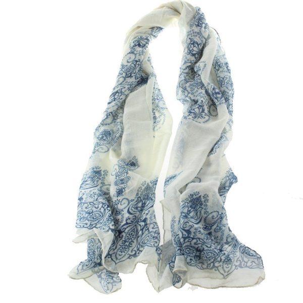porcelain pattern scarf