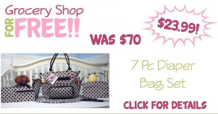 Grand Central 7 Pc Diaper Bag Set Just $23.99! (Reg. $70!)