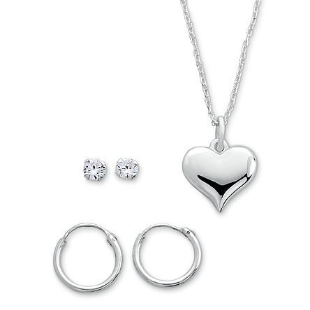 3 Piece Sterling Silver Earring and Pendant Set Just $19.99 Down From $99.99 At Sears!