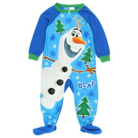 Little Boys' Olaf Footed Sleeper Just $10.80! Down From $25!