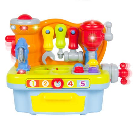 Musical Learning Pretend Play Tool Workbench Toy, Fun Sound Effects & Lights Just $24.95 Down From $69.95!